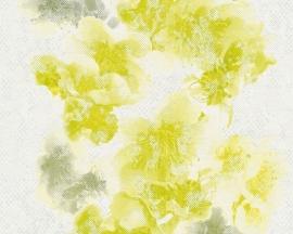 Metropolis bloemen behangpapier 93928-1 geel