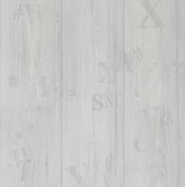 Sloophout Behang Grijs 49755