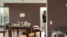 bruin lambrisering behang 95297-3