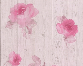 New England 2 behangpapier 96112-1 rozen