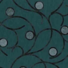 Behangpapier Blauw Cirkels 02420-60