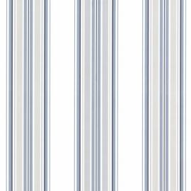 Behangpapier Strepen Blauw 2604-21209