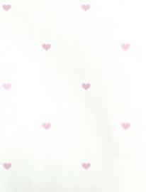 11-11222 Hartjes behang roze wit