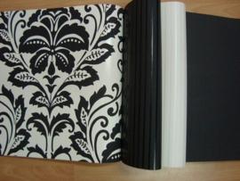 barok behang vlies zwart wit xx52