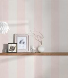 rose strepen behangpapier 37554-2
