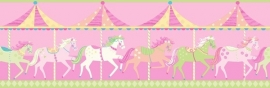 Carousel behangrand DLB50082 Horses