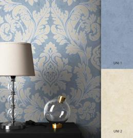 Blauw goud barok behang xxx65