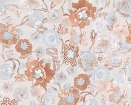 Oilily Home bloemen behangpapier 96121-1 blauw
