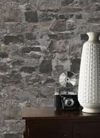 steen behangpapier grijs bruin 3d xx96