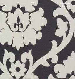 zwart barok behang 45944
