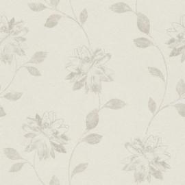 Bloemen Behang Creme 425161