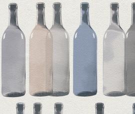 Behangpapier Wijnflessen 586012