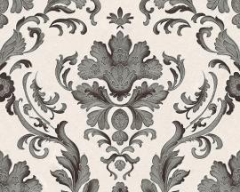 Behangpapier barok zwart grijs 30190-1