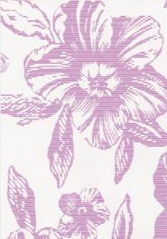 Roze wit bloemen behang vinyl 18061-10