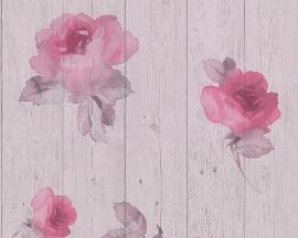 New England 2 behangpapier 96112-2 rozen
