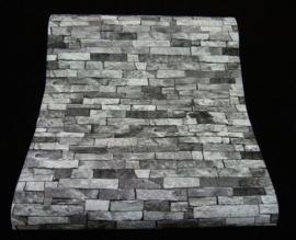 P + S International behangpapier grijs antraciet