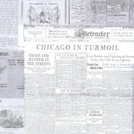 Behangpapier  vintage nieuwskrant 2604-21266