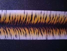 Tijgerprintbehang zwart wit goud