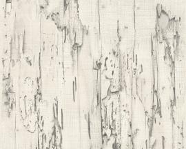 Behangpapier Sloophout Grijs 95402-2