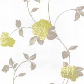 Behangpapier Bloemen Groen 13180-50