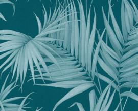 tropical floral behangpapier groen/blauw 36503-5