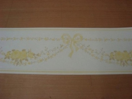 wit geel bloemetjes behangrand 33