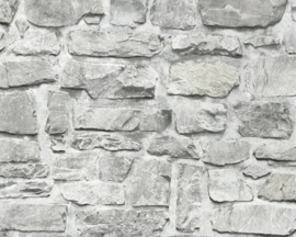Steen behang beige grijs taupe 36370-1