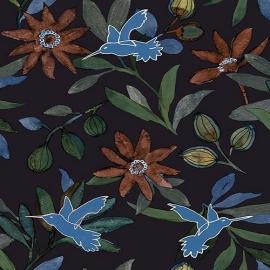 Bloemen Vogels Behang JW3739