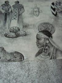 farao behang egyptisch beelden faros vinyl x06