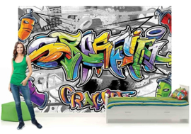 For Wall Fotobehang Graffiti 2295P8