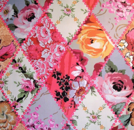 Behangpapier Patchwork Roze 6316-19