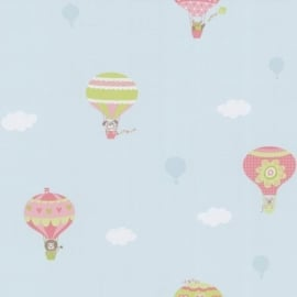Happy Kids kinder behang 05573-10 Luchtballon roze