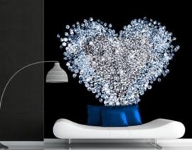 Fotobehang diamanten hart
