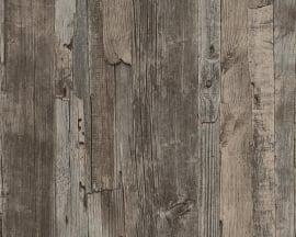 Behangpapier Sloophout Bruin 95405-1