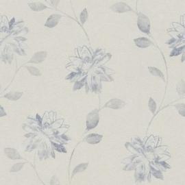 Bloemen Behang blauw 425192