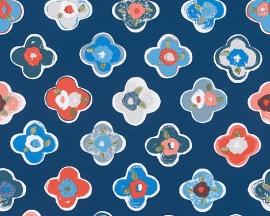 Oilily Home bloemen behangpapier 96122-2 blauw