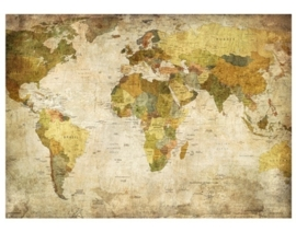 Fotobehang World Map 255