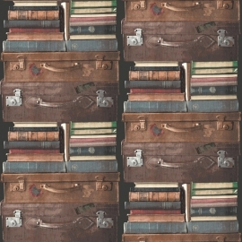 Exposed behang PE06019 Koffers & Boeken