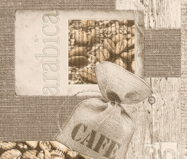 Behangpapier Beige Bruin Koffie-bonen Behang  831818