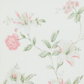 bloemen vlies behang oud roze17880