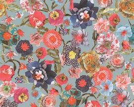 Oilily Home bloemen behangpapier 96121-2 blauw