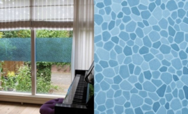 2875 raamfolie glas in lood blauw patifix