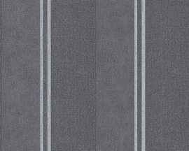 Behangpapier Streep Zwart Grijs 30520-5