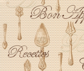 Behangpapier Beige Bestek Behang  828115