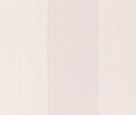 Strepen Behang Creme, Lichtroze 450804