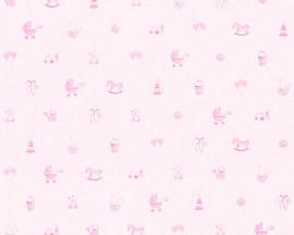 roze meisjes behang 35854-1