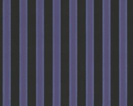 Metropolis strepen behangpapier 93934-4 paars