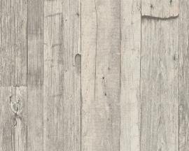 Behangpapier Hout Beige Creme 95931-1