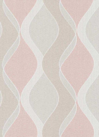 retro behang roze 6995-04