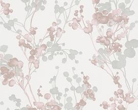 Behangpapier Bloemen Roze 30056-3